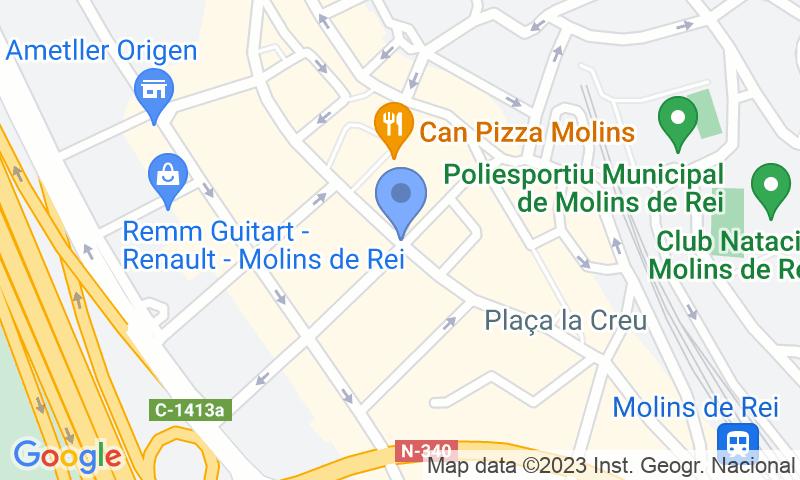 Localizzazione del parcheggio sulla mappa - Prenota un posto nel parcheggio SABA Molins de Rei Centre
