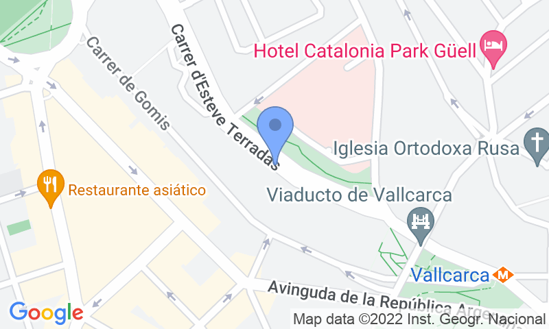 Standort des Parkplatzes auf der Karte - Buch einen Parkplatz im NN Esteve Terradas Parkplatz.