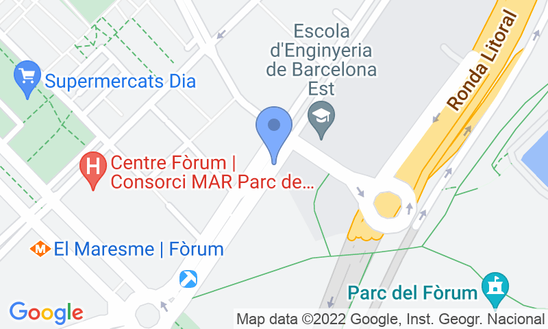 Localización del parking en el mapa - Reservar una plaza en el parking BSM Fòrum - Diagonal Mar - ONE PASS