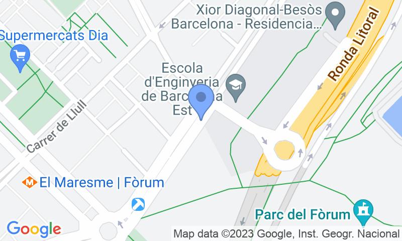 Localización del parking en el mapa - Reservar una plaza en el parking BSM Fòrum - Diagonal Mar - ONE PASS
