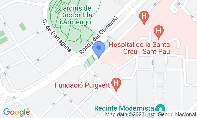 Standort des Parkplatzes auf der Karte - Buch einen Parkplatz im SABA Hospital de Sant Pau Parkplatz.