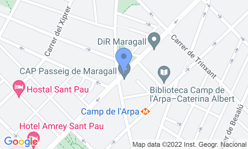 Parking location in the map - Book a parking spot in BSM Maragall - Guinardó car park