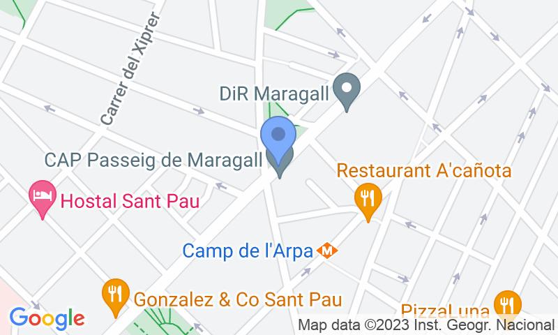 Localizzazione del parcheggio sulla mappa - Prenota un posto nel parcheggio BSM Maragall - Guinardó