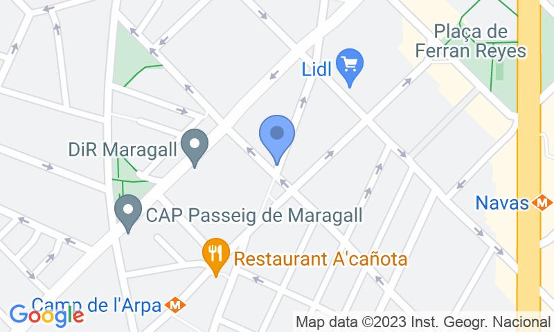 Localización del parking en el mapa - Reservar una plaza en el parking Freser-Turismos - Navas-Sagrera