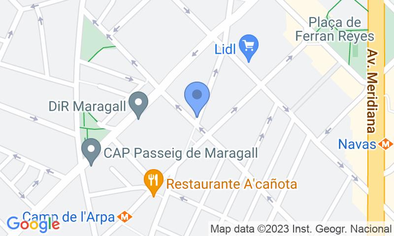 Localizzazione del parcheggio sulla mappa - Prenota un posto nel parcheggio Freser-Turismos - Navas-Sagrera