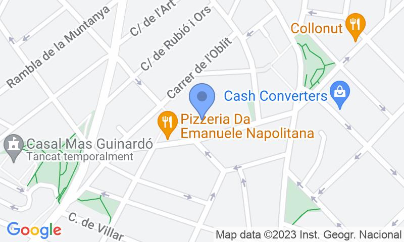 Localizzazione del parcheggio sulla mappa - Prenota un posto nel parcheggio BSM Mercat Guinardó