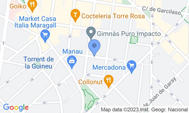 Localización del parking en el mapa - Parking Estación La Sagrera - Turismos Campoflorido