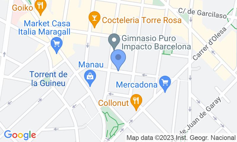 Lugar de estacionamento no mapa - Parking Estación La Sagrera - Turismos Campoflorido