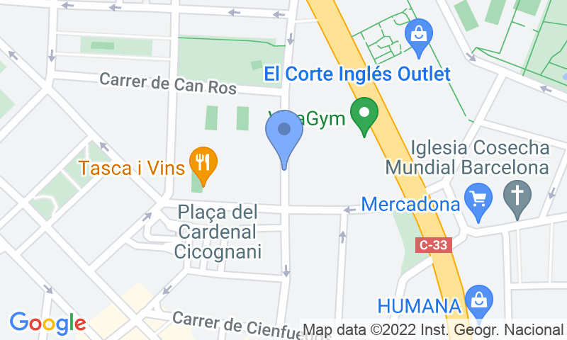 Localizzazione del parcheggio sulla mappa - Prenota un posto nel parcheggio BSM Concepción Arenal - Sagrera