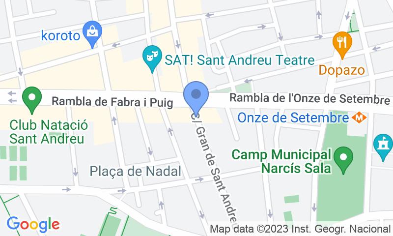 Localización del parking en el mapa - Reservar una plaza en el parking Sant Andreu