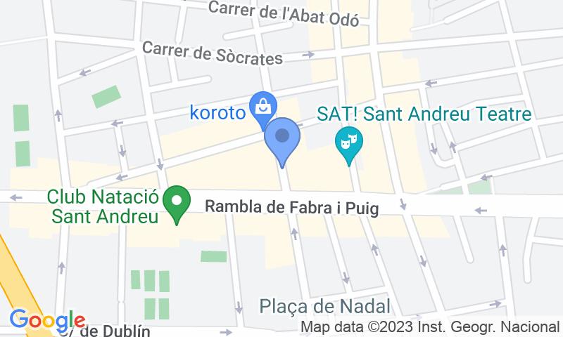Расположение парковки на карте - Забронируйте паркоместо на стоянке BSM Sant Andreu Teatre