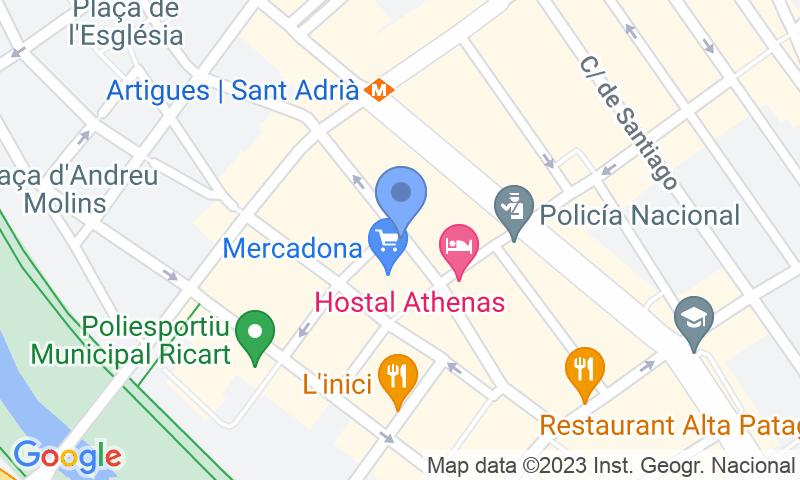 Parkeerlocatie op de kaart - Reserveer een parkeerplek in parkeergarage Mercat de Sant Adrià