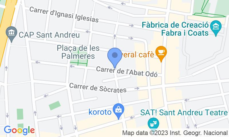 Localización del parking en el mapa - Garatge Gallar