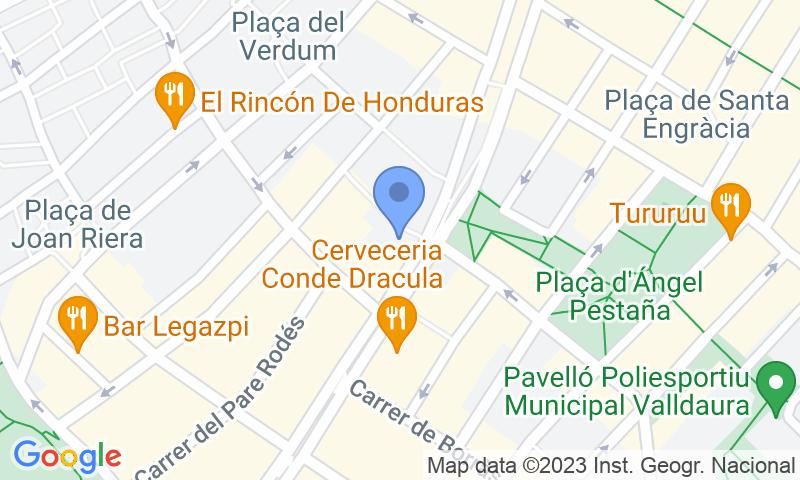 Localización del parking en el mapa - Parking Verdú - Francesc Layret - Via Júlia Francesc Layret