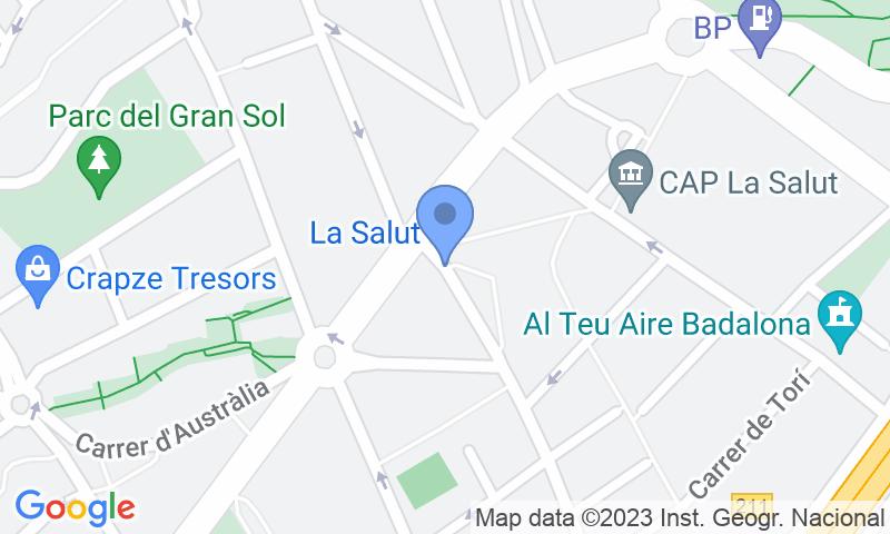 Localització del parking al mapa - Reservar una plaça al parking Quevedo