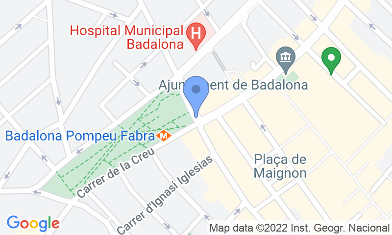 Localización del parking en el mapa - Reservar una plaza en el parking Pompeu Fabra