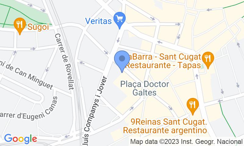 Localización del parking en el mapa - Reservar una plaza en el parking Doctor Galtés