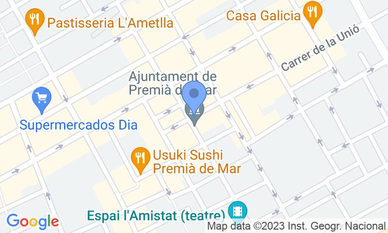 Parkeerlocatie op de kaart - Reserveer een parkeerplek in parkeergarage Premià - Països Catalans