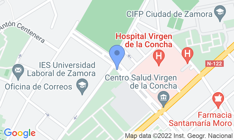Localización del parking en el mapa - Reservar una plaza en el parking Reyes Católicos