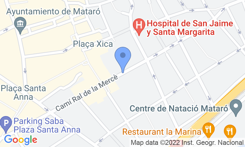 Localizzazione del parcheggio sulla mappa - Prenota un posto nel parcheggio SABA Can Xammar