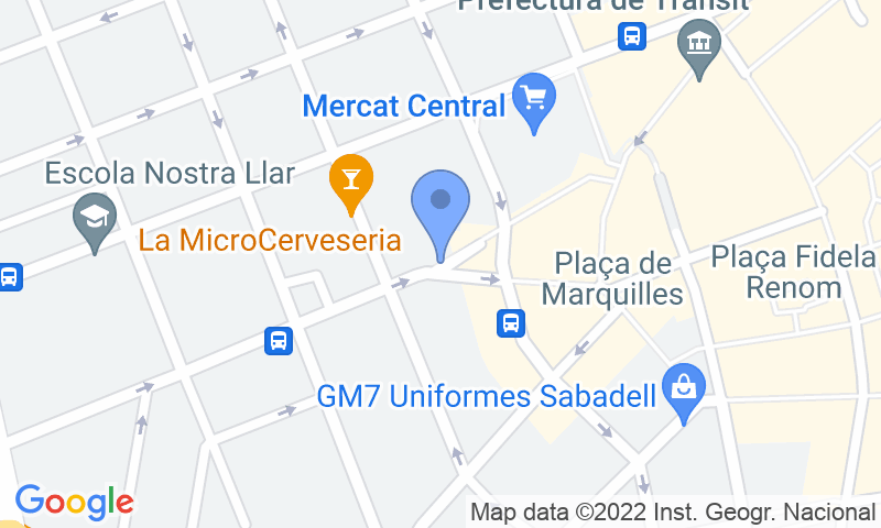 Localización del parking en el mapa - Reservar una plaza en el parking SABA Mercat Central