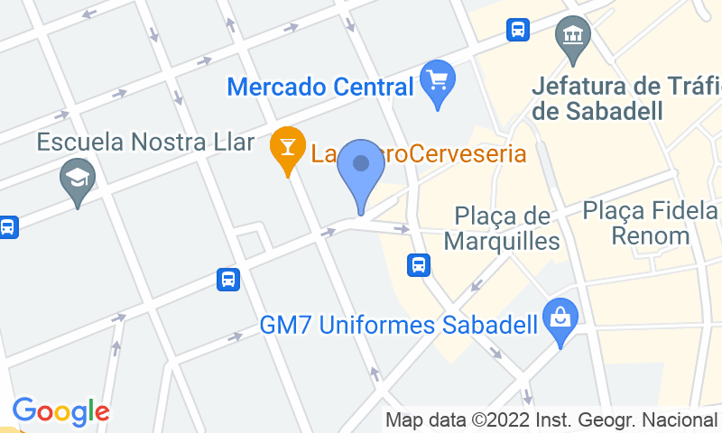 Parking location in the map - Book a parking spot in SABA Mercat Central car park