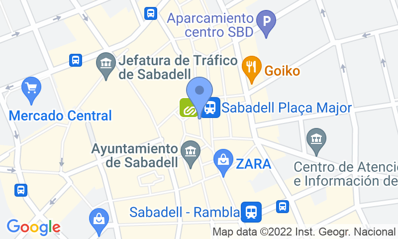 Lugar de estacionamento no mapa - Reserve uma vaga de  estacionamento no SABA Doctor Robert Sabadell