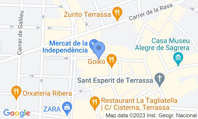 Расположение парковки на карте - Забронируйте паркоместо на стоянке SABA Raval de Montserrat