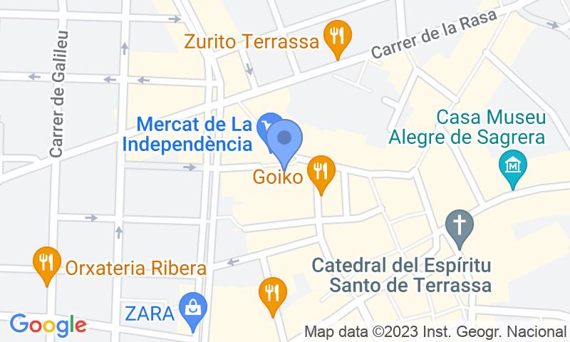 Localització del parking al mapa - Reservar una plaça al parking SABA Raval de Montserrat