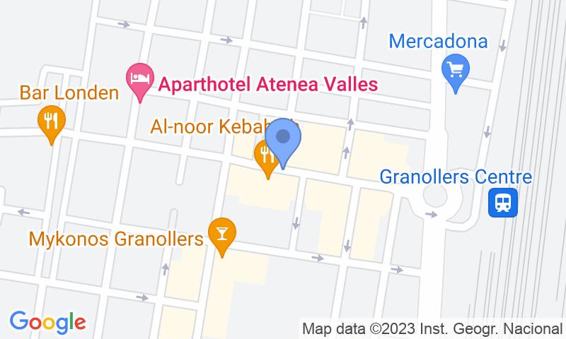 Localizzazione del parcheggio sulla mappa - Prenota un posto nel parcheggio Estació Atenea