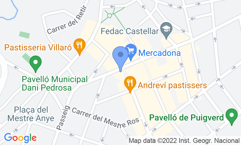 Расположение парковки на карте - Parking SABA Plaça Major Castellar del Valles