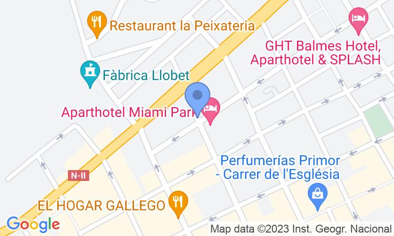 Localización del parking en el mapa - Reservar una plaza en el parking Parkinsol