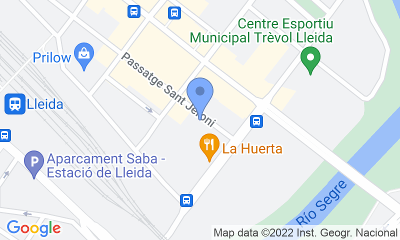 Localización del parking en el mapa - Reservar una plaza en el parking Demave
