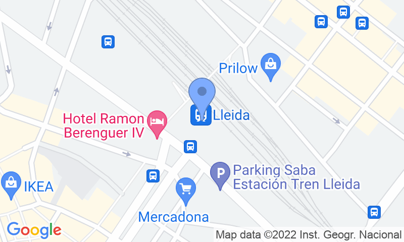 Localizzazione del parcheggio sulla mappa - Prenota un posto nel parcheggio Demave Valet Estación AVE Lleida