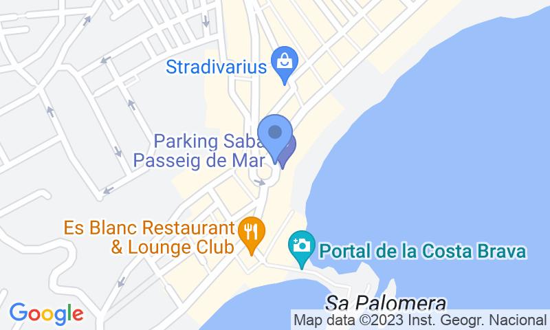 Localizzazione del parcheggio sulla mappa - Prenota un posto nel parcheggio SABA Passeig de Mar