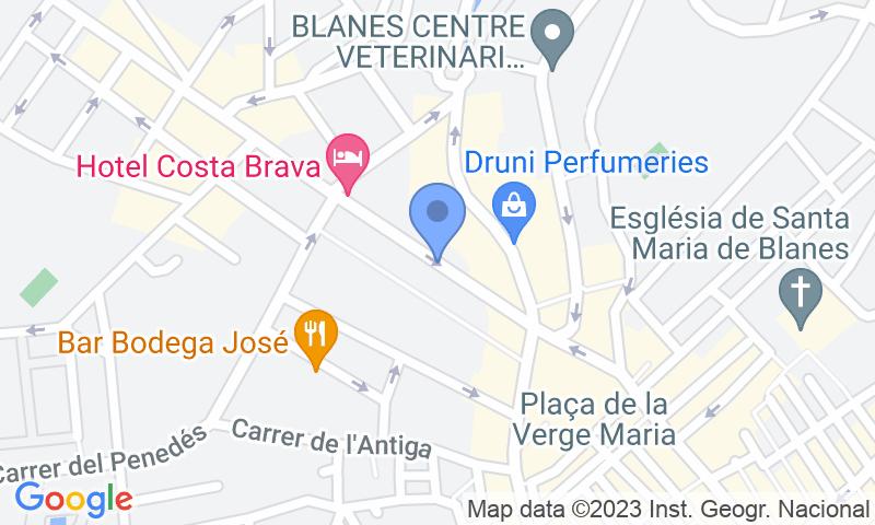 Localización del parking en el mapa - Reservar una plaza en el parking Brillas (Blanes)