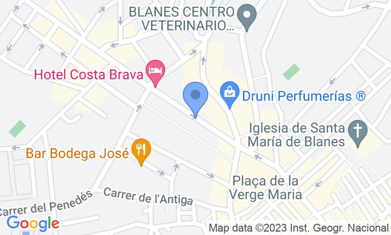 Localització del parking al mapa - Reservar una plaça al parking Brillas (Blanes)