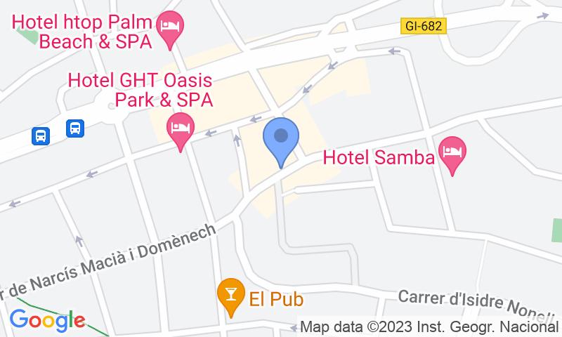 Localización del parking en el mapa - Reservar una plaza en el parking Costa Carbonell - Lloret de Mar