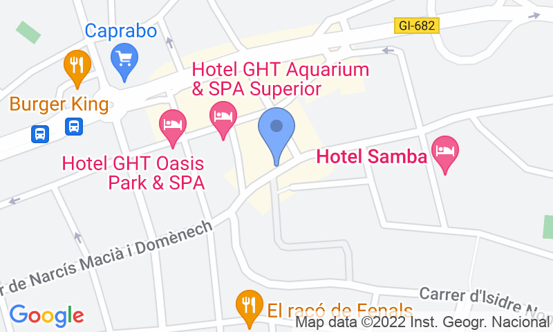 Lugar de estacionamento no mapa - Reserve uma vaga de  estacionamento no Costa Carbonell - Lloret de Mar
