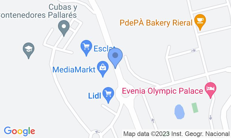 Standort des Parkplatzes auf der Karte - Buch einen Parkplatz im Centre Comercial Porta Lloret Parkplatz.