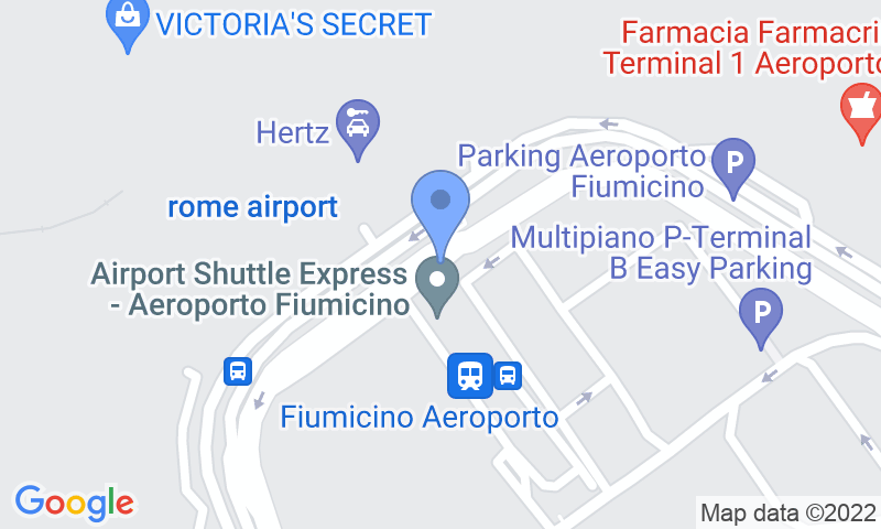 Parking location in the map - Book a parking spot in ItalyParking Aeroporto Fiumicino Car Valet car park