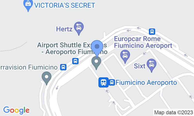 Emplacement du parking sur la carte - Réservez une place dans le parking ItalyParking Aeroporto Fiumicino Car Valet