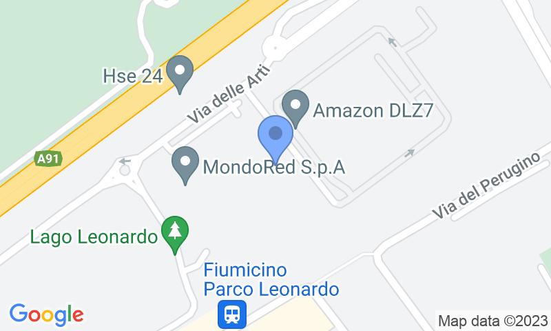 Localización del parking en el mapa - Reservar una plaza en el parking Cayman-Fiumicino-shuttle