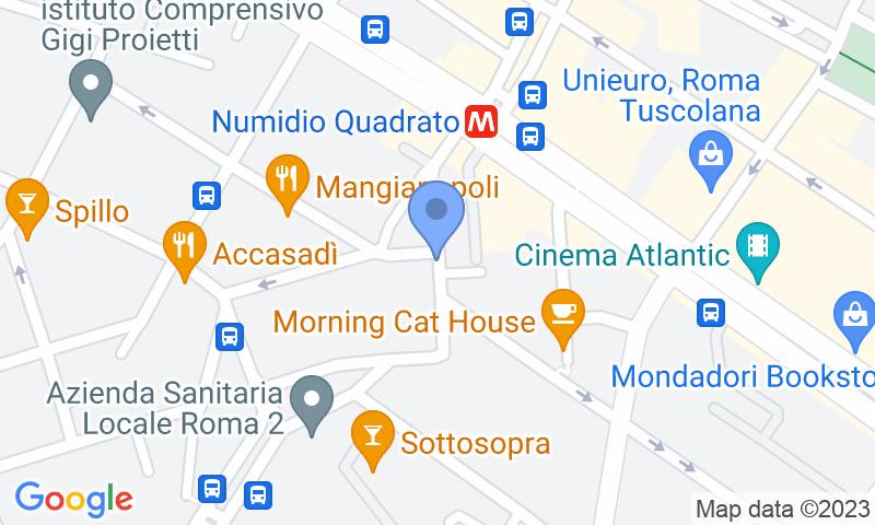 Localización del parking en el mapa - Reservar una plaza en el parking Tuscolana