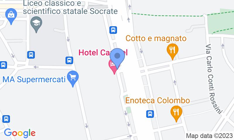Расположение парковки на карте - Забронируйте паркоместо на стоянке Centro Revisioni - Colombo