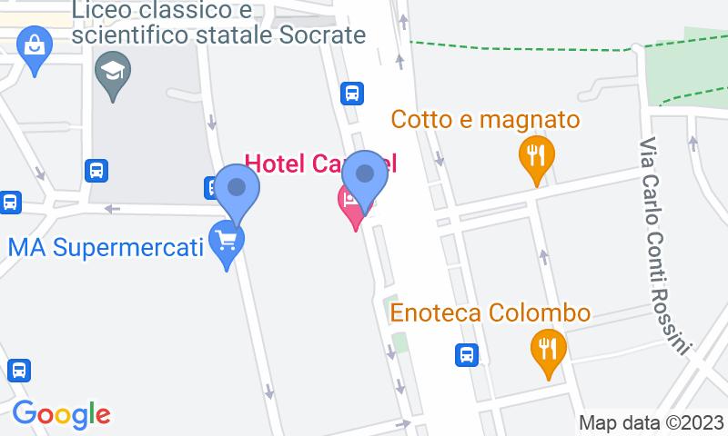 Localización del parking en el mapa - Reservar una plaza en el parking Centro Revisioni - Colombo