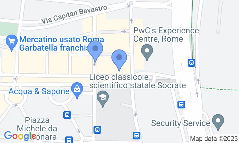 Localización del parking en el mapa - Reservar una plaza en el parking Autorimessa - Ostiense
