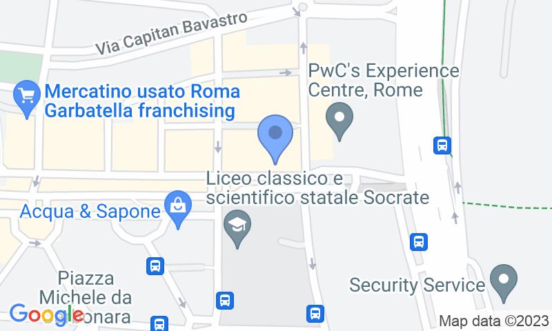 Localizzazione del parcheggio sulla mappa - Prenota un posto nel parcheggio Autorimessa - Ostiense