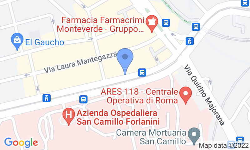 Parking location in the map - Book a parking spot in San Camillo car park