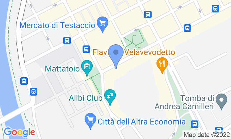 Parking location in the map - Book a parking spot in MuoviAmo Testaccio car park